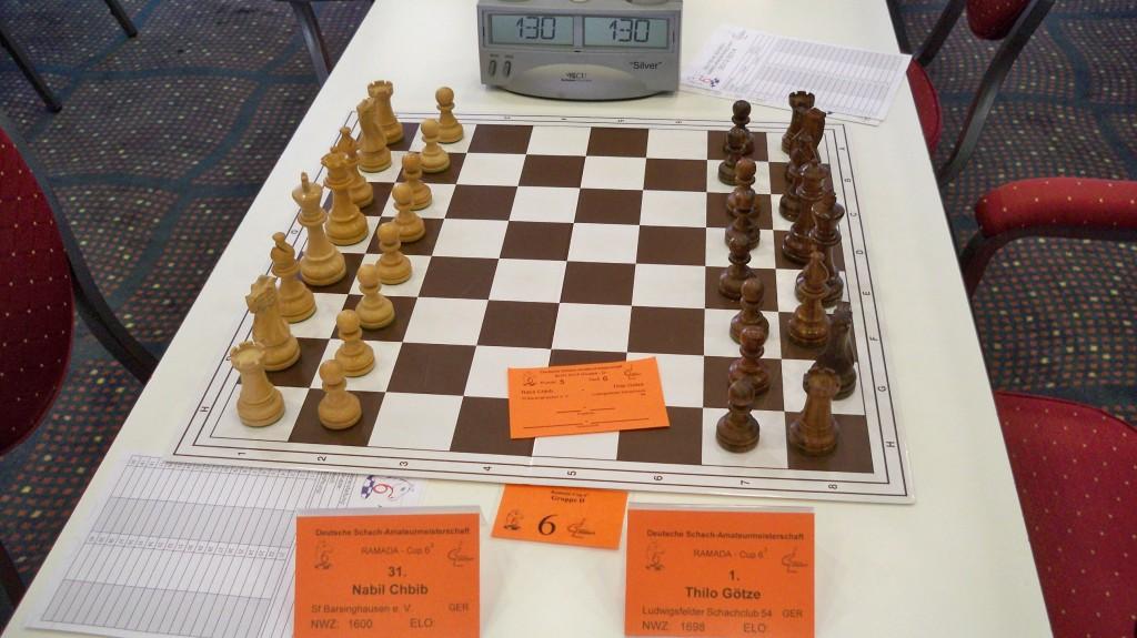 Götze gegen Chbib Schach auf Wettkampfniveau