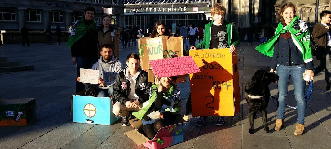 Demonstration gegen Wohnungsnot in Köln © Sarah von Dombrowski