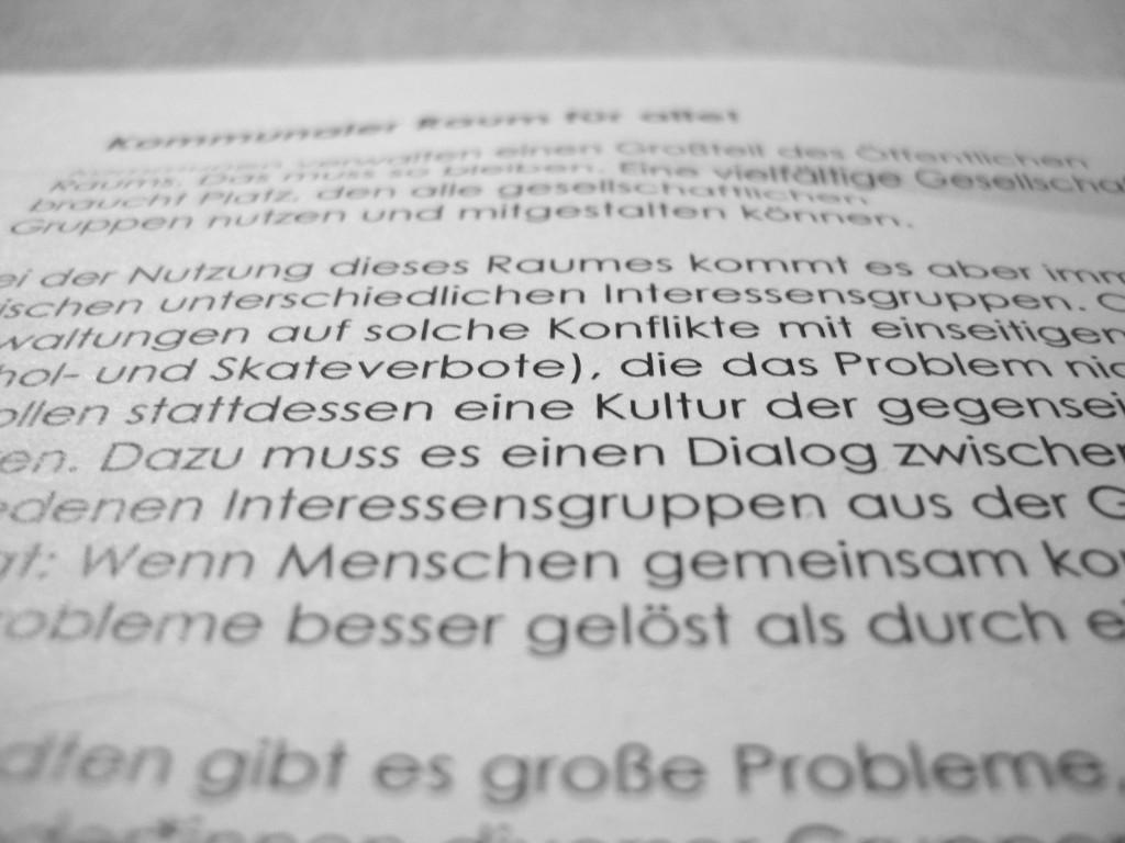 Flyer gegen Wohnungsnot und Spekulanten © Thilo Götze