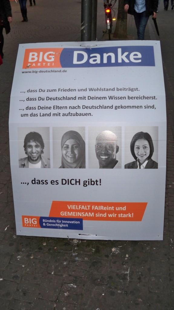 Wahlplakat Köln pro für Ausländer © Thilo Götze