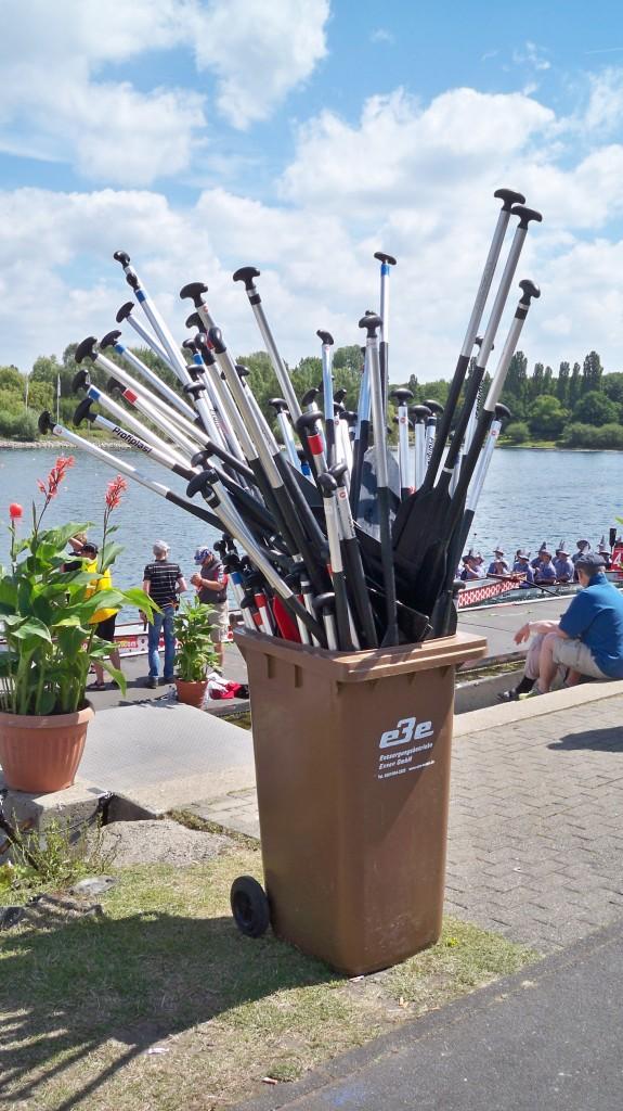 Paddel für Drachenbootrennen am Fühlinger See © Landesblog-NRW-braucht-das.de