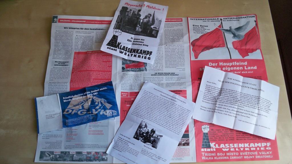 Flyer und Flugblätter der Himmlischen Vier © Landesblog NRW