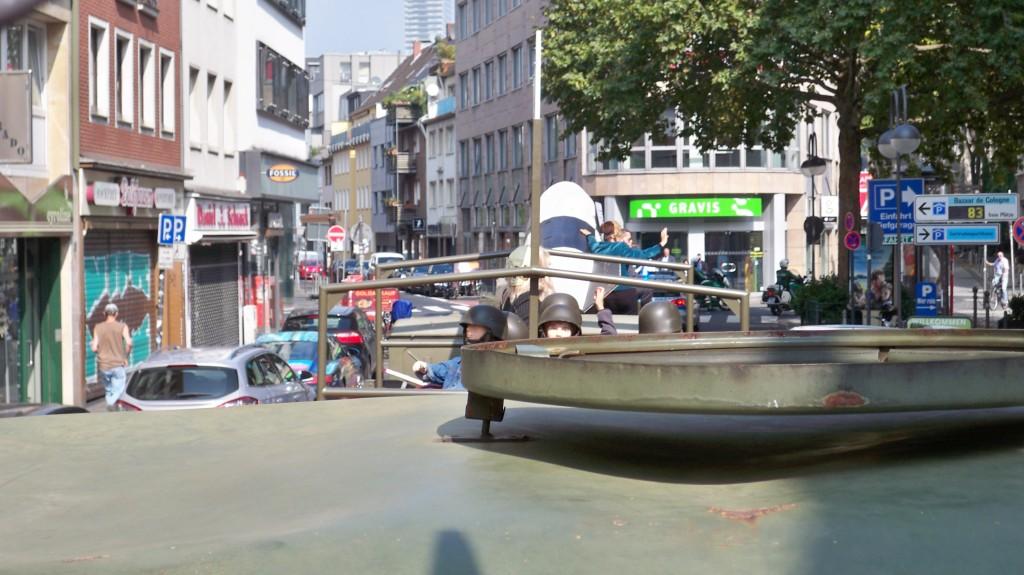 Sicht nach hinten auf den Protestzug in Köln © Landesblog NRW