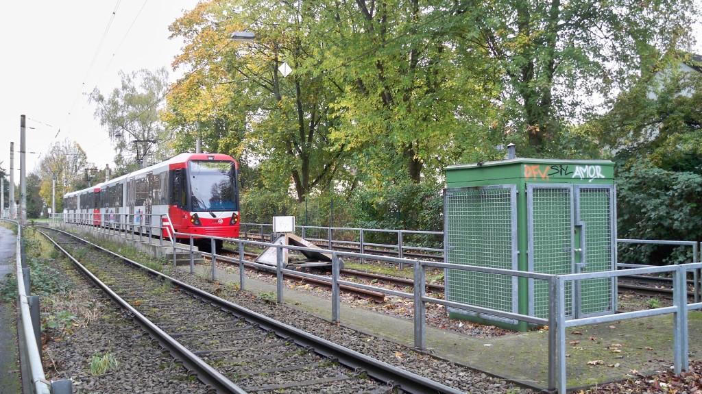 Endhaltestelle KVB Linie 13 Holweide Vischeringer Straße © Landesblog NRW