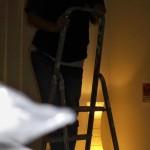 Glühbirne in 4 Metern Höhe wechseln