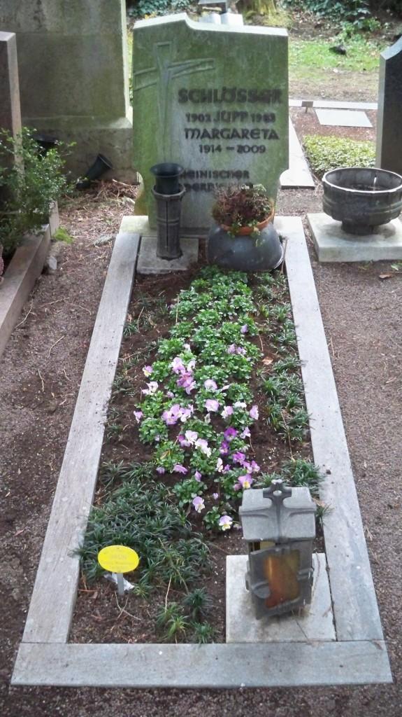Grab von Jupp Schlösser auf Melaten Friedhof