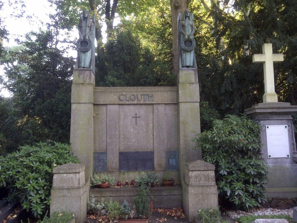 Familiengrab Clouth auf dem Melaten in Köln