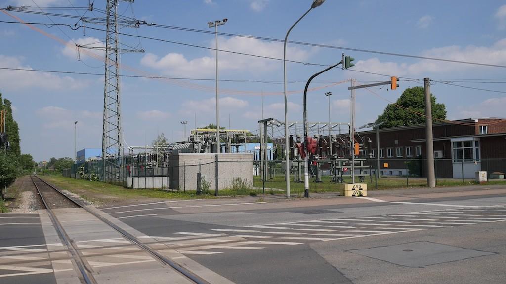 Umspannwerk im Rheinhafen zu Krefeld