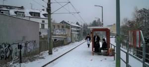 Haltestelle Brühl-Mitte im Winter © Thilo Götze