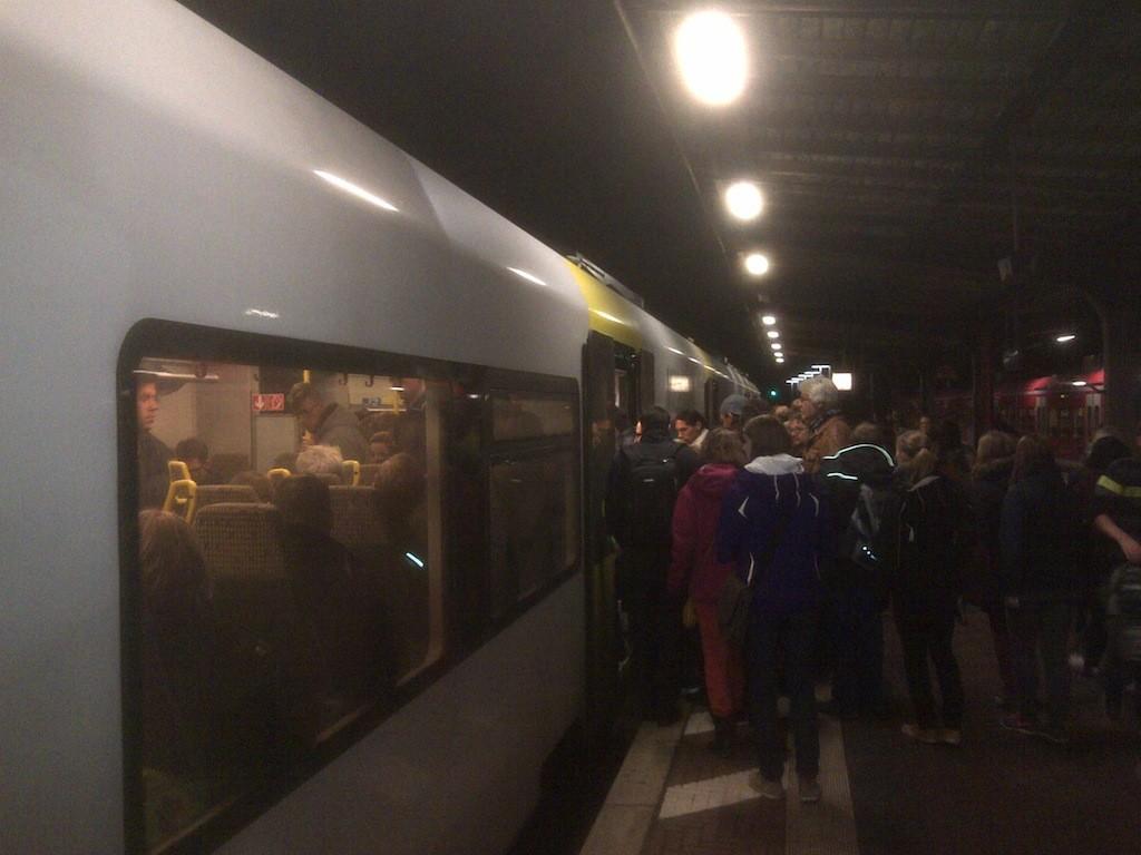 Zuggäste können nicht mitfahren