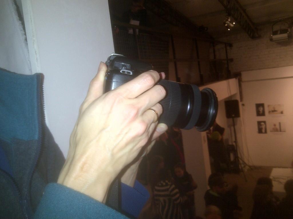 Fotografie eines der Meta-Fotografen der Fotoausstellung