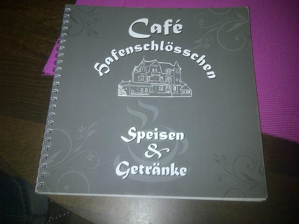 Cafe Hafenschlösschen Speisekarte