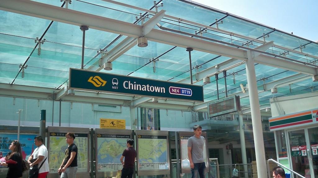 MRT Station Chinatown in Singapur