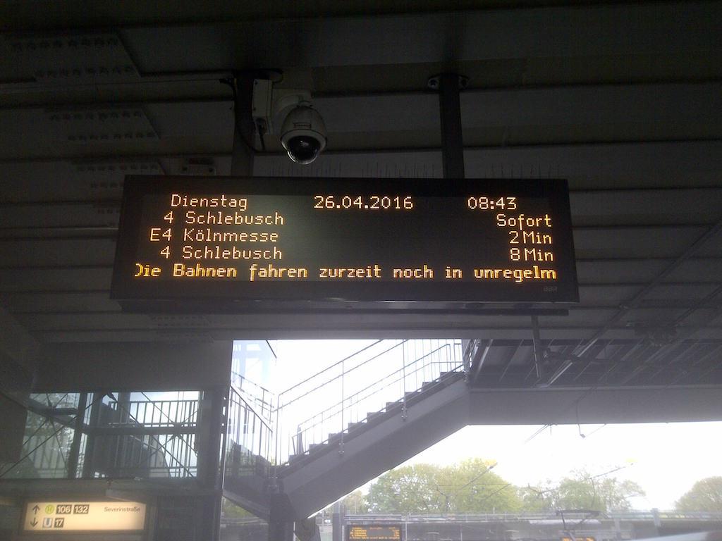 Fahrtenstandsanzeiger Severinstraße