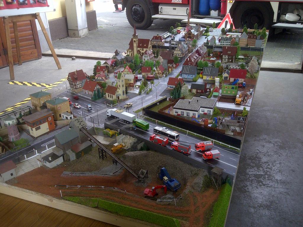 Stadtmodell in Miniatur von Hersel