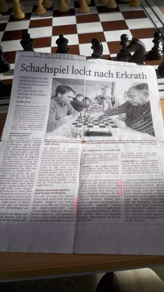 Zeitungsartikel Rheinische Post