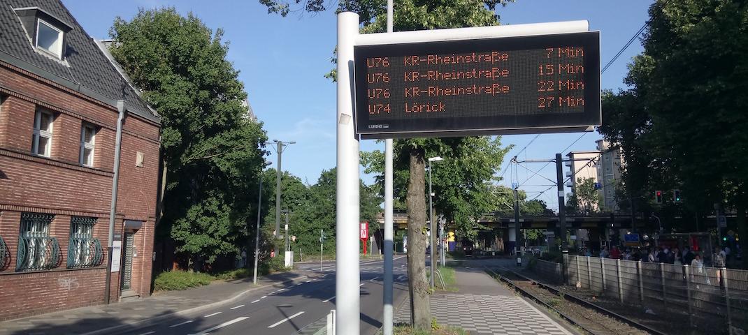 Fahrtenstandsanzeiger Düsseldorf Prinzenallee