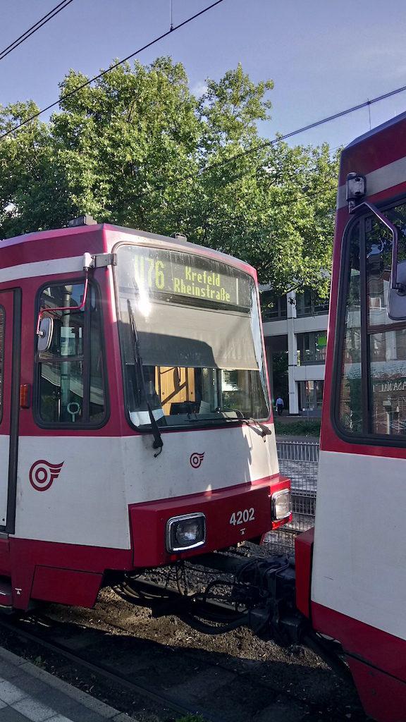 U76 Tram in Düsseldorf