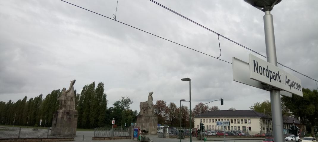 Rheinbahn Haltestelle Aquazoo Düsseldorf