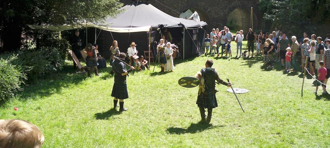 Ritterspiele bei den Highland Games in Kempen