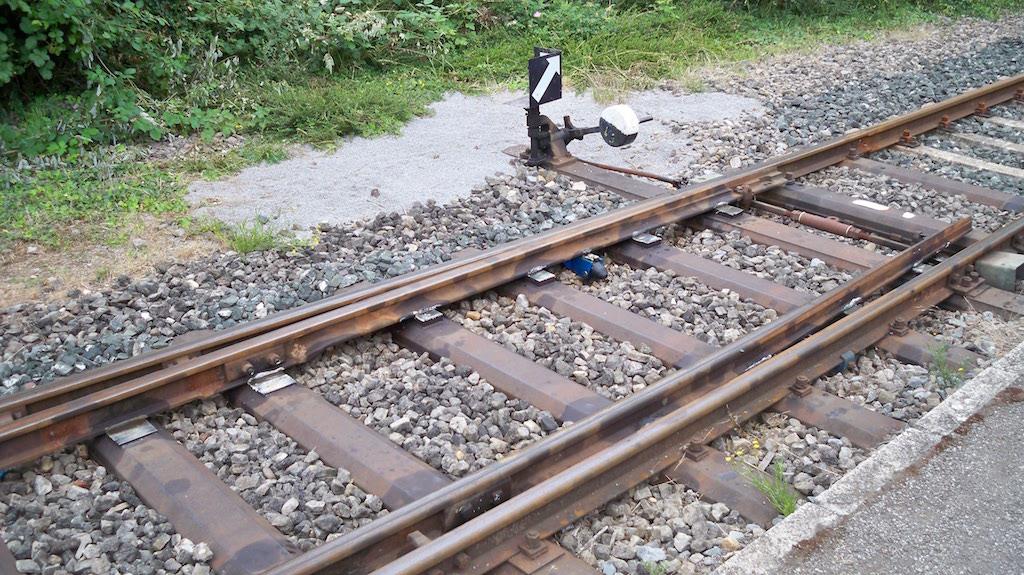 Eisenbahnweiche Schluff