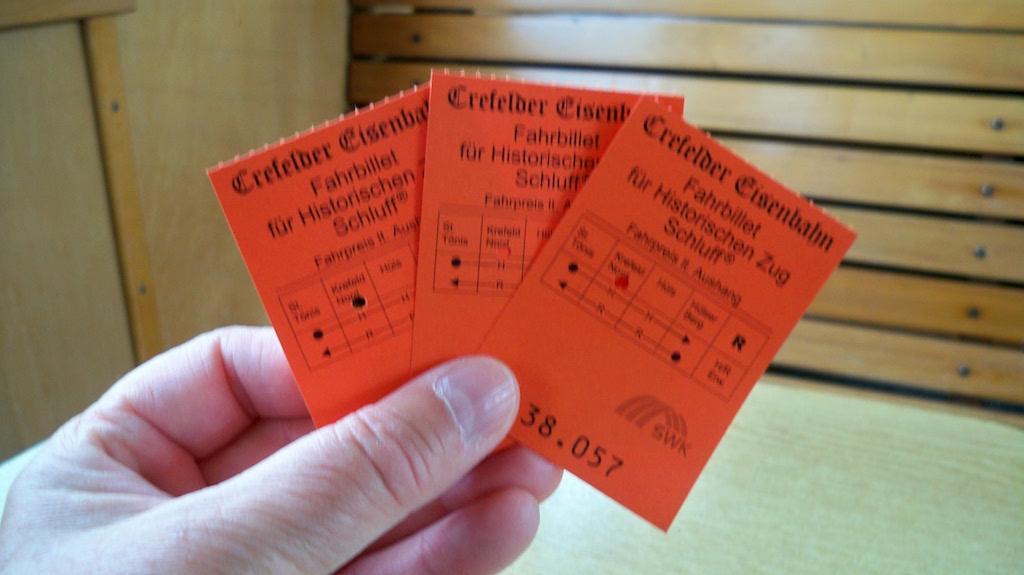 Fahrkarten für den Schluff