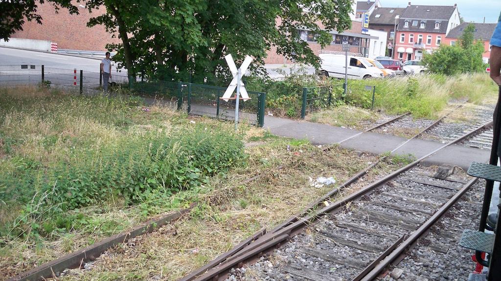 Andreaskreuz in Krefeld