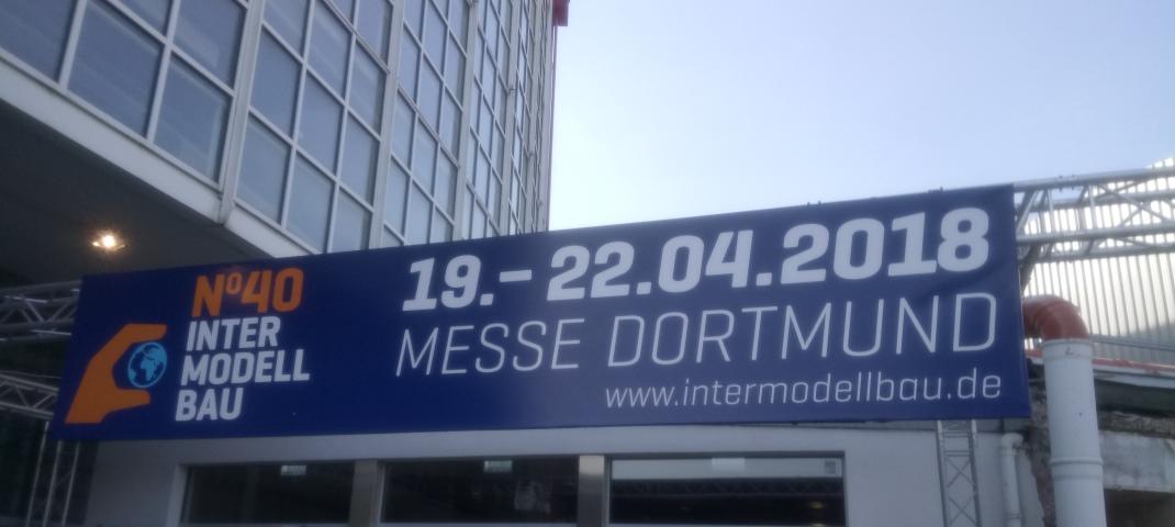 Eingang zur Intermodellbau Messegelände