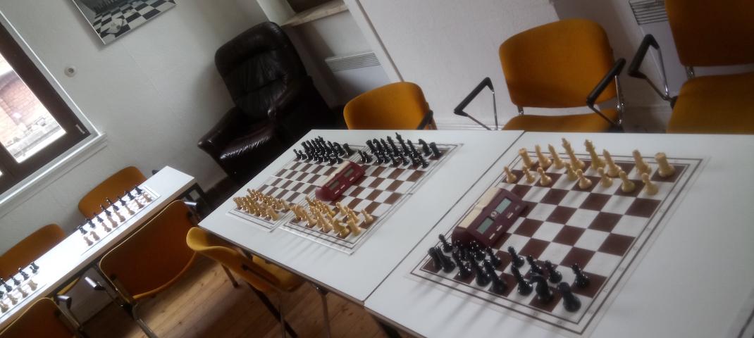 Spieltische der Elberfelder Schachgesellschaft Wiesenstraße 2