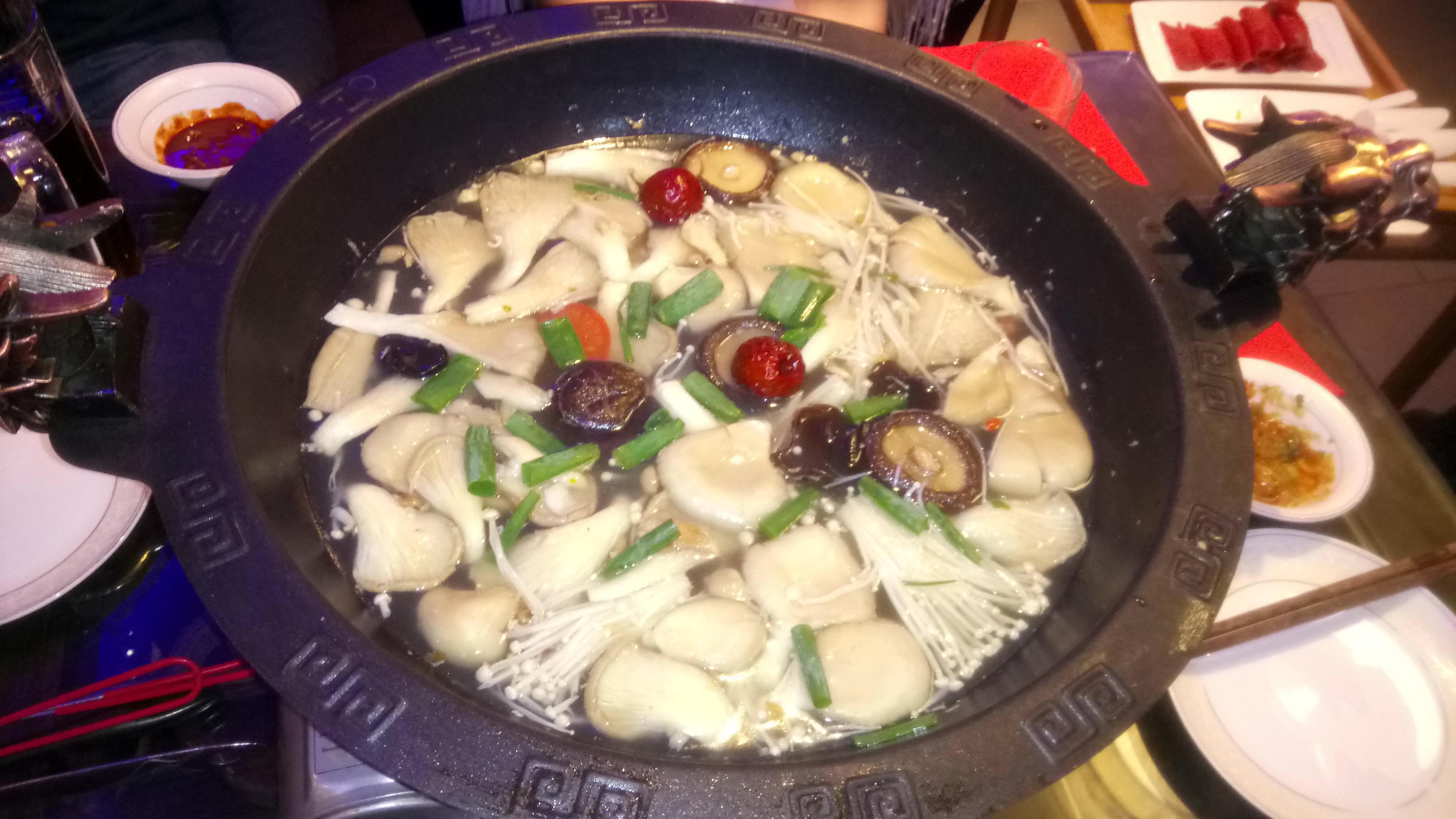 Feuertopf im Chuan Wei ohne Chili